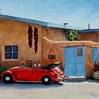 """Cool Ride"" -Classic convertible red VW beetle ready for a ride by Mary Giacomini"