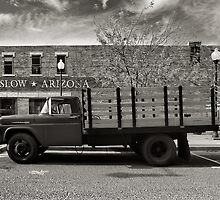 I was standing on the corner in Winslow Arizona.... by Steve Silverman