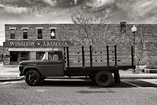 I was standing on the corner in Winslow Arizona.... by Steve Silverman