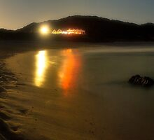 Sorrento Beach Party Panorama by Jason Green