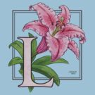 L is for Lily - full image shirt by Stephanie Smith