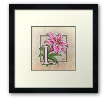 L is for Lily Framed Print
