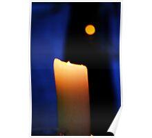 Candlelight Vigil At Dusk Poster