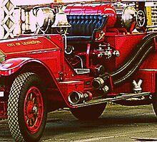 Vintage Fire Truck by Rachel Williams