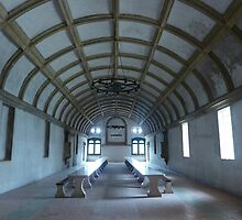 Tomar Castle vast dining room! by Meladana