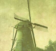 Windmill with Texture by Dawn Crouse