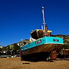Fishing boat on Hastings Beach by Bel Menpes