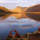 Reflections of Loch Etive, Scotland by KerryElaine