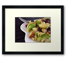 Warm Brussels Sprouts Salad Framed Print
