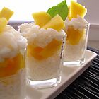 Sticky Rice &amp; Mango Shots by Kimberly Morales