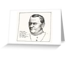 Gregor Mendel Greeting Card