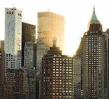 First light in Manhattan by Rick  Senley
