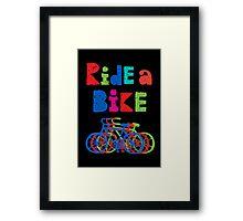 Ride a Bike - sketchy - black Framed Print