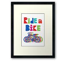 Ride a bike - sketchy - white Framed Print