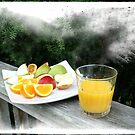 Fresh Fruit and Orange Juice. by Lynne Haselden