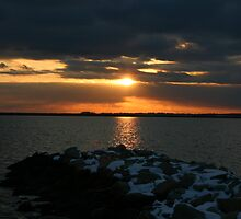 Stonington Point Sunset by CWard619