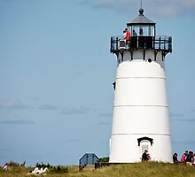 Afternoon At Edgartown Light by phil decocco