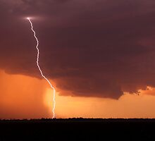 Dalby Sunset Lightning by Anthony Cornelius