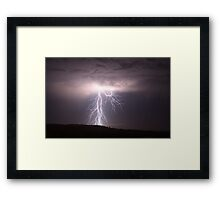 Darling Downs Lightning Framed Print
