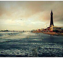 Blackpool beach by Ben Jones