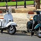 Black and White Vespa Scooters by chris-csfotobiz