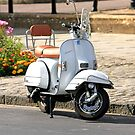 White Vespa Scooter by chris-csfotobiz