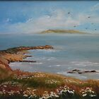 View of Lambay Island by Geraldine M Leahy