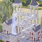 M.C. Escher&#x27;s Mill landscaped and painted by Eric Kempson by Eric Kempson