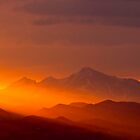 Rain Of Color On Longs Peak by Gregory J Summers