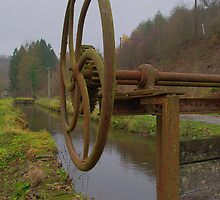 canal providing old saw mill of water by 7horses
