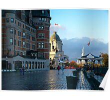 Boardwalk in Quebec Poster