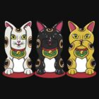 Maneki Neko - Hear See Speak No Evil by karbondream