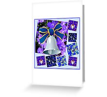 Christmas in Blue Collage Greeting Card