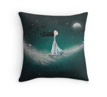 Wherever the wind takes me Throw Pillow