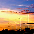 Sunset Lamp Posts by Brian Damage