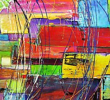 Crazy abstract textured acrylic painting by Chris Hobel