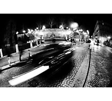 Night Cityscape Cars and lights - Italy Photographic Print