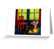 interior scene Greeting Card