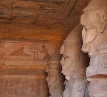 Inside the Great Temple of Ramses II at Abu Simbel by Laurel Talabere