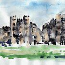 Cowdray Castle - Watercolour by Lynn Ede by Lynn Ede
