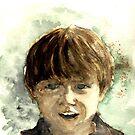 Sunshine Boy - Watercolour by Lynn Ede by Lynn Ede