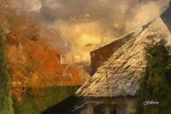 White and Autumn Colours - Edegem - Belgium by Gilberte