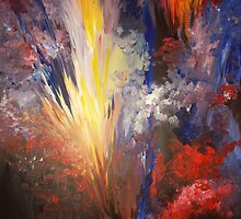 Flame - an abstract by Jen  Manning