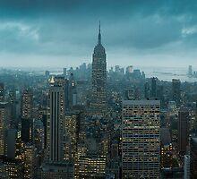 The Apple at night - Manhattan by Jonathon Speed