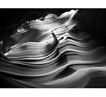 Sandstone Wave ~ Black & White Photographic Print