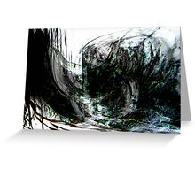an evil black forest seascape.... dark wreck Greeting Card