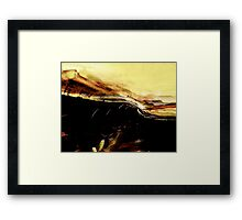 raw thoughts.... pale emotional edge Framed Print