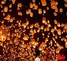 Yi Peng Lanterns by Daniel Nahabedian
