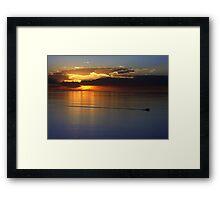 Gulf of St. Vincent Sunset Framed Print