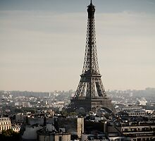 Eiffel Tower and Paris City View 2 by kbudz